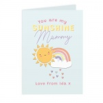 Personalised Card - You Are My Sunshine