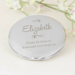 Personalised Swirls & Hearts Compact Mirror