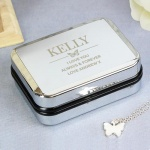 Personalised Box with Butterfly Necklace