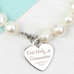 Personalised 1st Holy Communion White Freshwater Pearl Bracelet