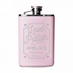 Personalised Pink Hip Flask - Love Potion