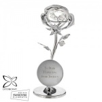 Personalised Crystocraft Rose Ornament with Swarovski Elements