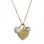 Personalised Sterling Silver & Gold Plate Heart Necklace