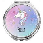 Personalised Compact Mirror - Unicorn