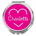 Personalised Pink Island Compact Mirror