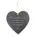 Personalised Large Slate Heart Decoration - A Mother Is
