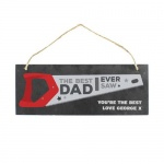 Personalised Colour Printed Slate Plaque - The Best Dad Ever Saw