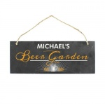 Personalised Colour Printed Slate Plaque - Beer Garden