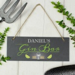 Personalised Colour Printed Slate Plaque - Gin Bar