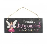 Personalised Colour Printed Slate Plaque - Fairy Garden