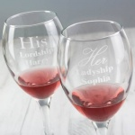 Personalised Wine Glass Set - His & Her