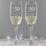Personalised Pair of Flutes with Gift Box - Anniversary