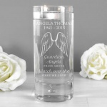 Personalised Floating Candle Holder - Guardian Angel Wings