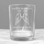 Personalised Votive Candle Holder - Guardian Angel Wings