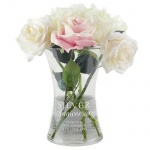 Personalised Glass Vase - Silver Anniversary