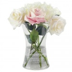 Personalised Glass Vase - Gold Anniversary