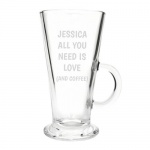 Personalised Latte Glass - All You Need Is Love