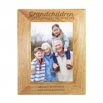 Personalised Wooden Photo Frame -  Grandchildren are a Blessing
