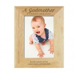 Personalised Wooden Photo Frame - Godmother