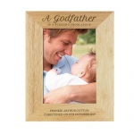 Personalised Wooden Photo Frame - Godfather