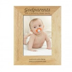 Personalised Wooden Photo Frame - Godparents