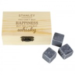 Whisky Stones with Personalised Box - Happiness