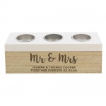 Personalised Triple Tea Light Box - Married Couple