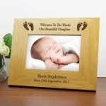 6 x 4 Landscape Wood Frame - Baby Foot