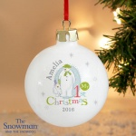 The Snowman & the Snowdog My 1st Christmas Bauble