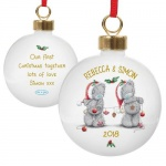 Personalised Me to You Christmas Tree Bauble - Couple's