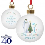 Personalised My 1st Christmas Bauble - The Snowman