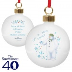 Personalised Bauble - The Snowman Let it Snow