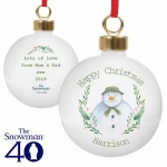 Personalised Bauble - The Snowman Winter Garden