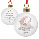 Personalised Ceramic Bauble - Swan Lake