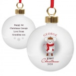 Personalised 1st Christmas Bauble - Mouse