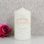 Personalised Candle - Glad You're My Godmother