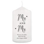 Personalised Pillar Candle - Married Couple