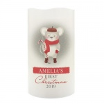 Personalised 1st Christmas Nightlight LED Candle - Mouse