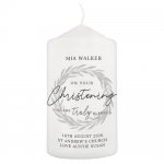 Personalised Christening Pillar Candle - Truly Blessed