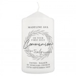 Personalised First Holy Communion Pillar Candle - Truly Blessed