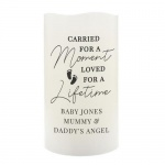 Personalised LED Candle - Carried For A Moment