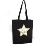 Personalised Black Cotton Bag - Star Teacher