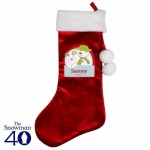 Personalised Luxury Stocking - The Snowman & the Snowdog