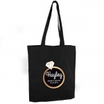 Personalised Black Cotton Bag - Gold Bling Ring Hen Party
