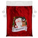 Personalised Red Christmas Sack - Santa