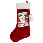 Personalised Red Christmas Stocking - Santa