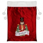 Personalised Luxury Red Christmas Sack - Nutcracker