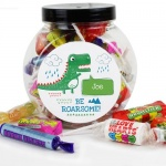 Personalised Sweet Jar - Be Roarsome Dinosaur