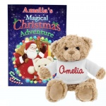 Personalised Magical Christmas Adventure Story Book & Bear