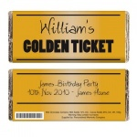 Personalised Milk Chocolate Bar - Golden Ticket
